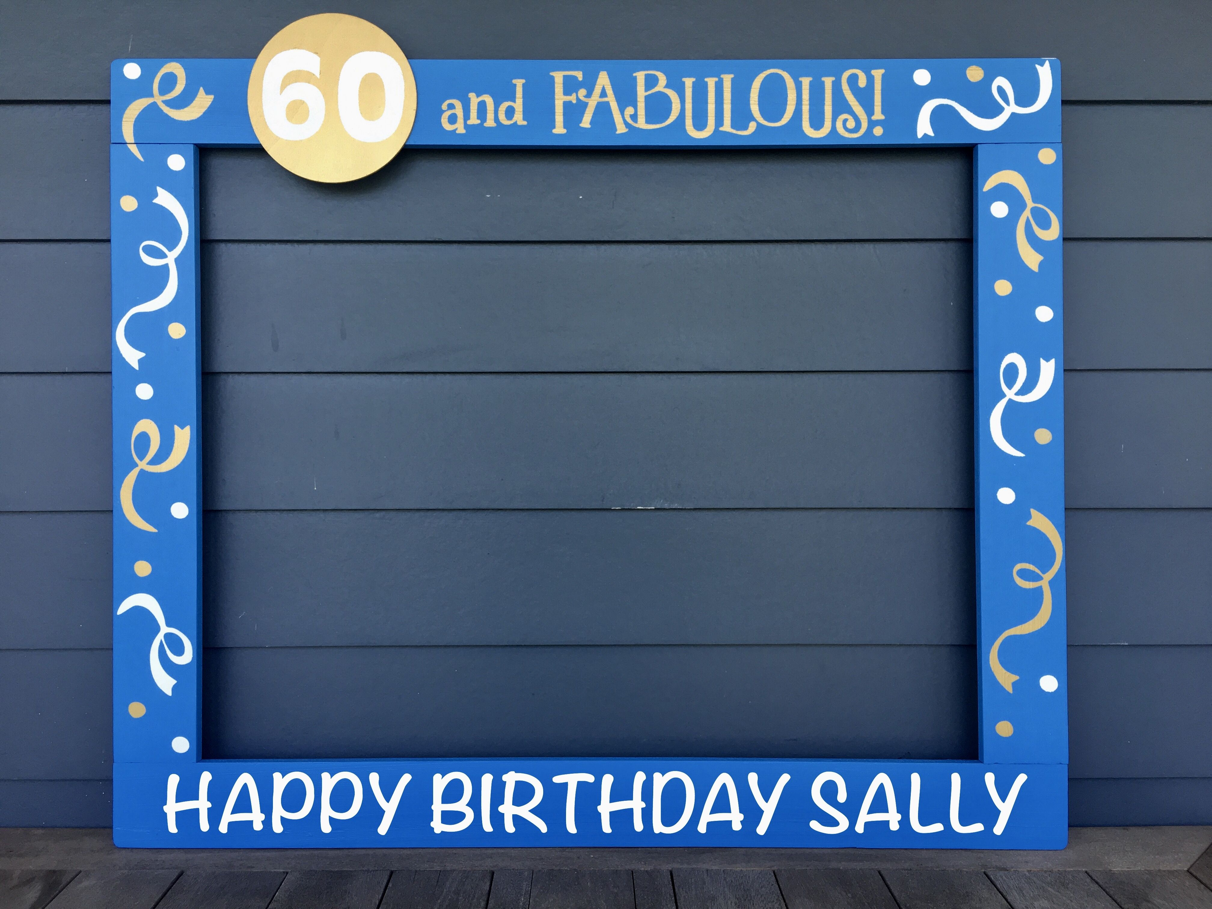 30th Photo Booth Frame - 40th Birthday Party Prop - 50th Birthday ...
