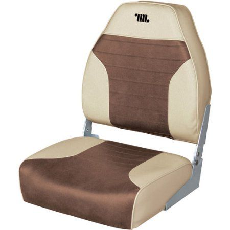 Wise Logoed Mid Back Boat Seat, Brown | Products | Fishing