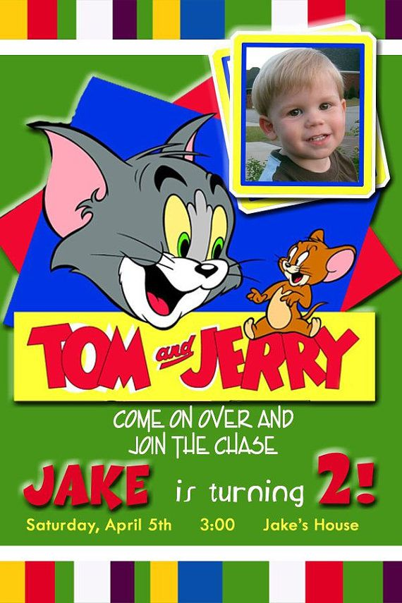 20 Tom And Jerry Personalized Birthday Party Invitations Includes