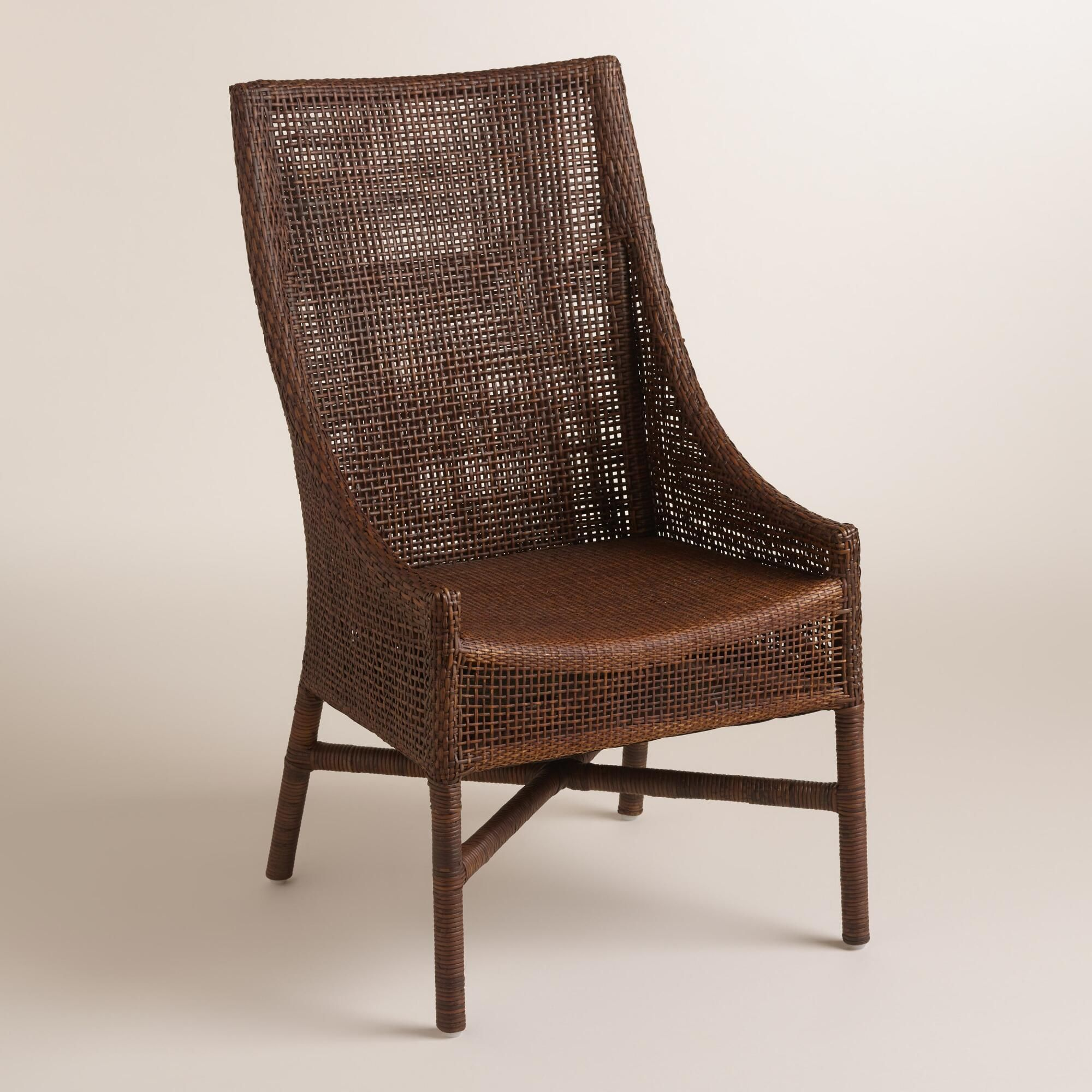 Brown Woven Rattan Carson Chairs Set of 2 | Open weave, Rattan and ...
