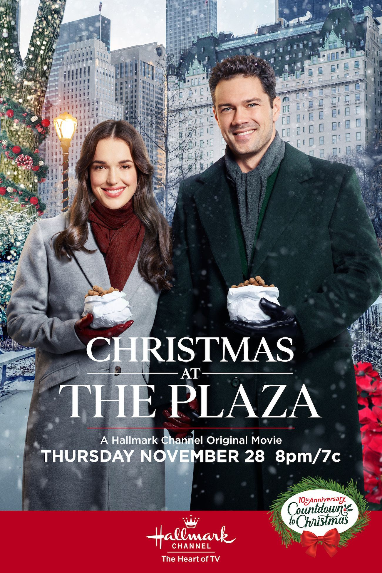 On November 28 Spend Christmas At The Plaza With Ryan Paevey And Elizabeth Hens Hallmark Christmas Movies Hallmark Channel Christmas Movies Christmas Movies