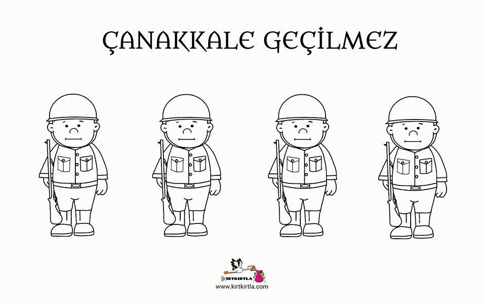 Canakkale Askerler Okul Oncesi Sanat Etkinligi Boyama Sayfasi Kirtkirtla 2020 Okul Oncesi Sanat Okul