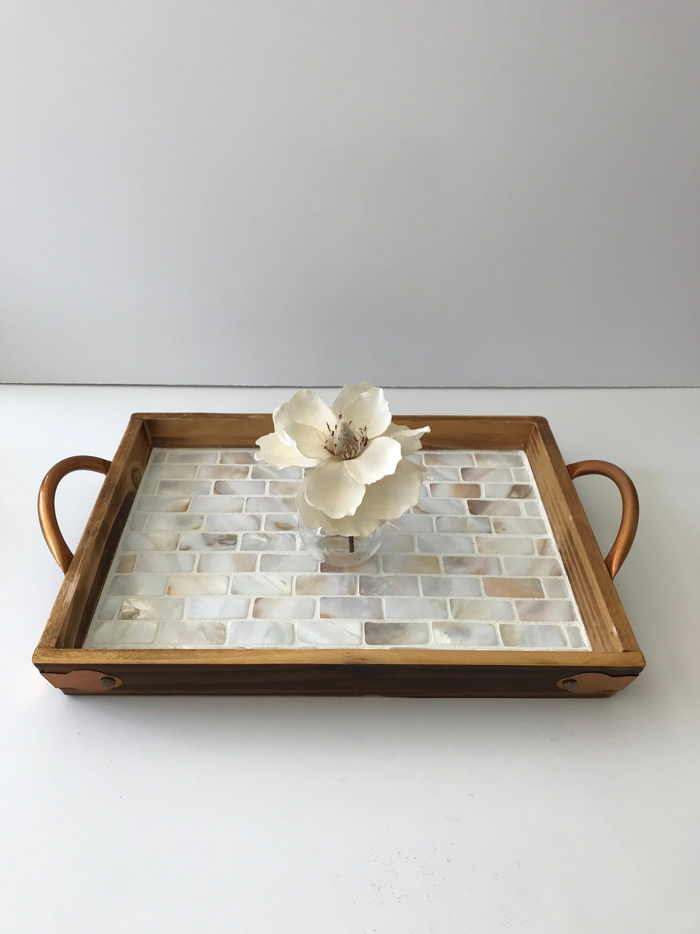Mother Of Pearl Tray Coffee Table Tray Tile Tray Wooden Etsy House Gifts Wooden Serving Trays Coffee Table Tray [ 3000 x 2250 Pixel ]