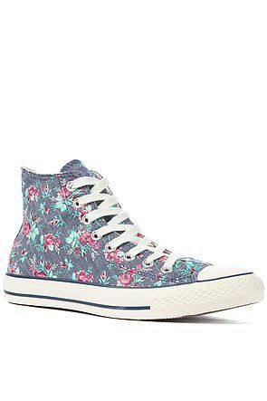 Amazon.com  Converse Womens All Star Floral High Top Sneakers  Shoes ... 5d9747037
