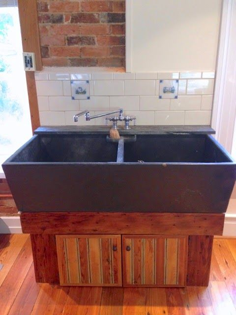 Beautiful Restored Antique Soapstone Sink Basement Laundry Room Makeover Bathroom Industrial Chic Classy Kitchen