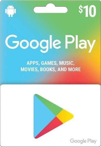 I like this from Best Buy Google play codes, Prepaid