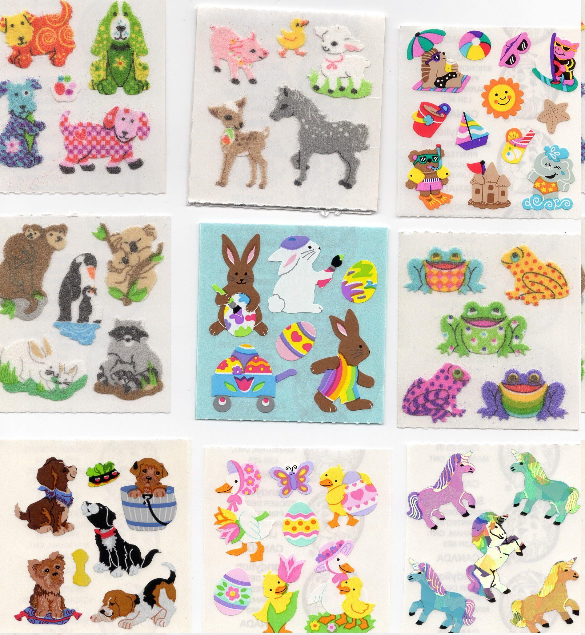Vintage Rare Hard To Find Sandylion Stickers 2 X 2 Etsy In 2020 Sticker Art Fun Stickers Sticker Collection