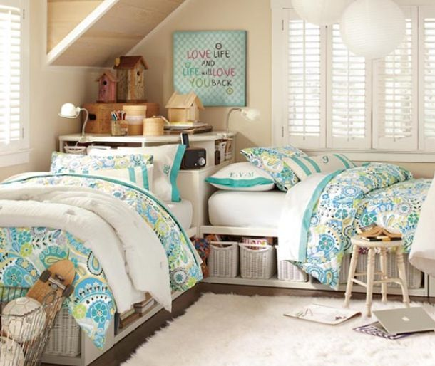 Interesting Idea For Quot L Quot Shaped Double Beds In Guest Room