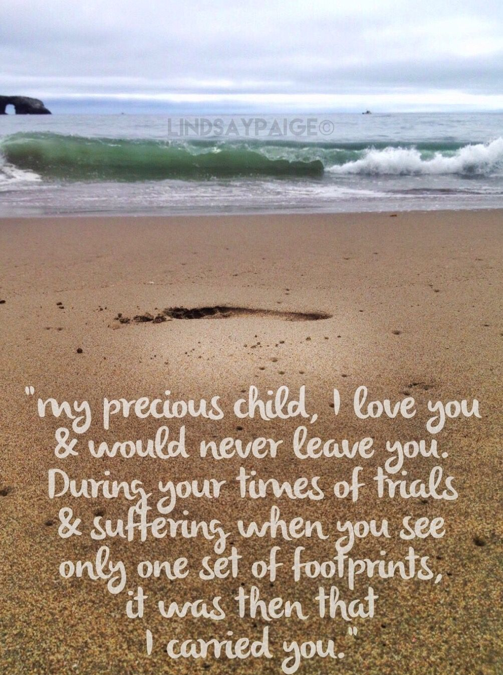 Footprints in the sand poem praise the lord
