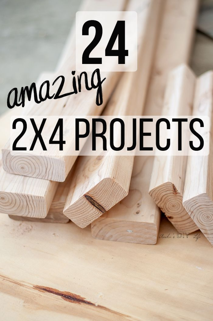 Wow! Love all these projects! If you are looking for easy and gorgeous DIY 2x4 projects don't miss this! Easy 2x4 project ideas for beginners! Make furniture or simple scrap wood projects. #AnikasDIYLife #woodworking