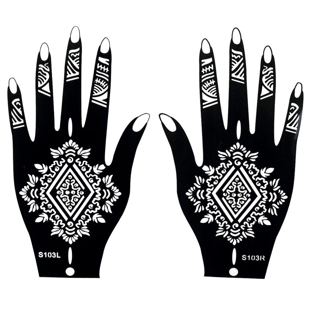 1 pair fake henna indian black waterproof tattoos ink