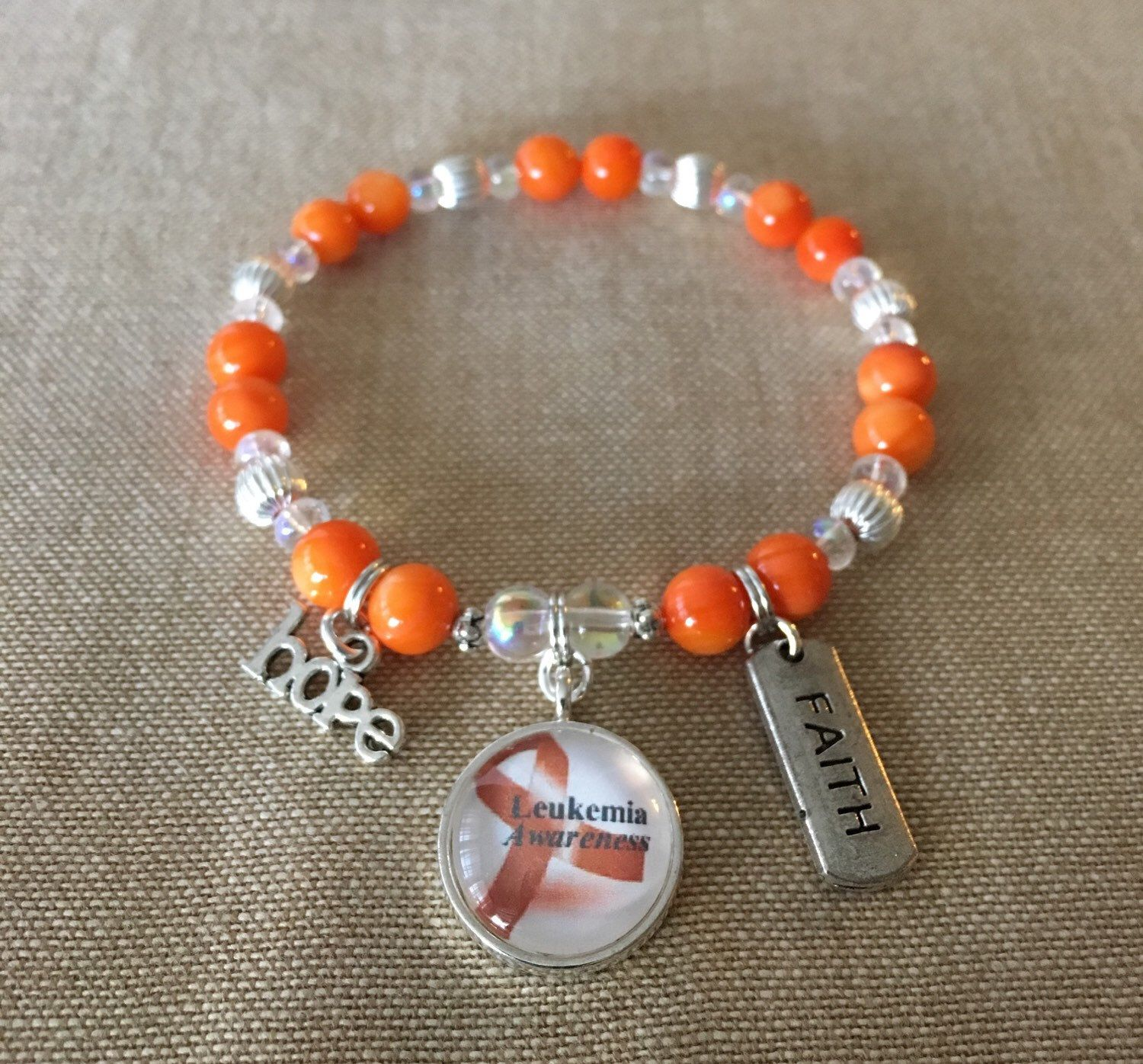 cancer multiple necklace pin leukemia glass awareness bracelet sclerosis kidney charm ribbon orange heart