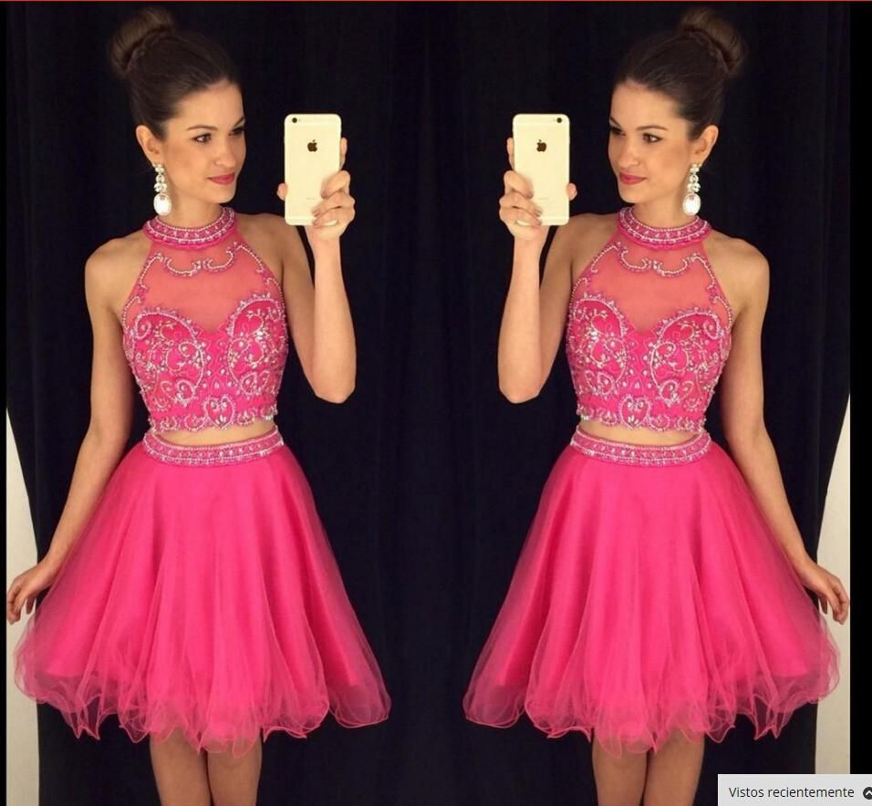 Homecoming dress piece homecoming dressessilver beading