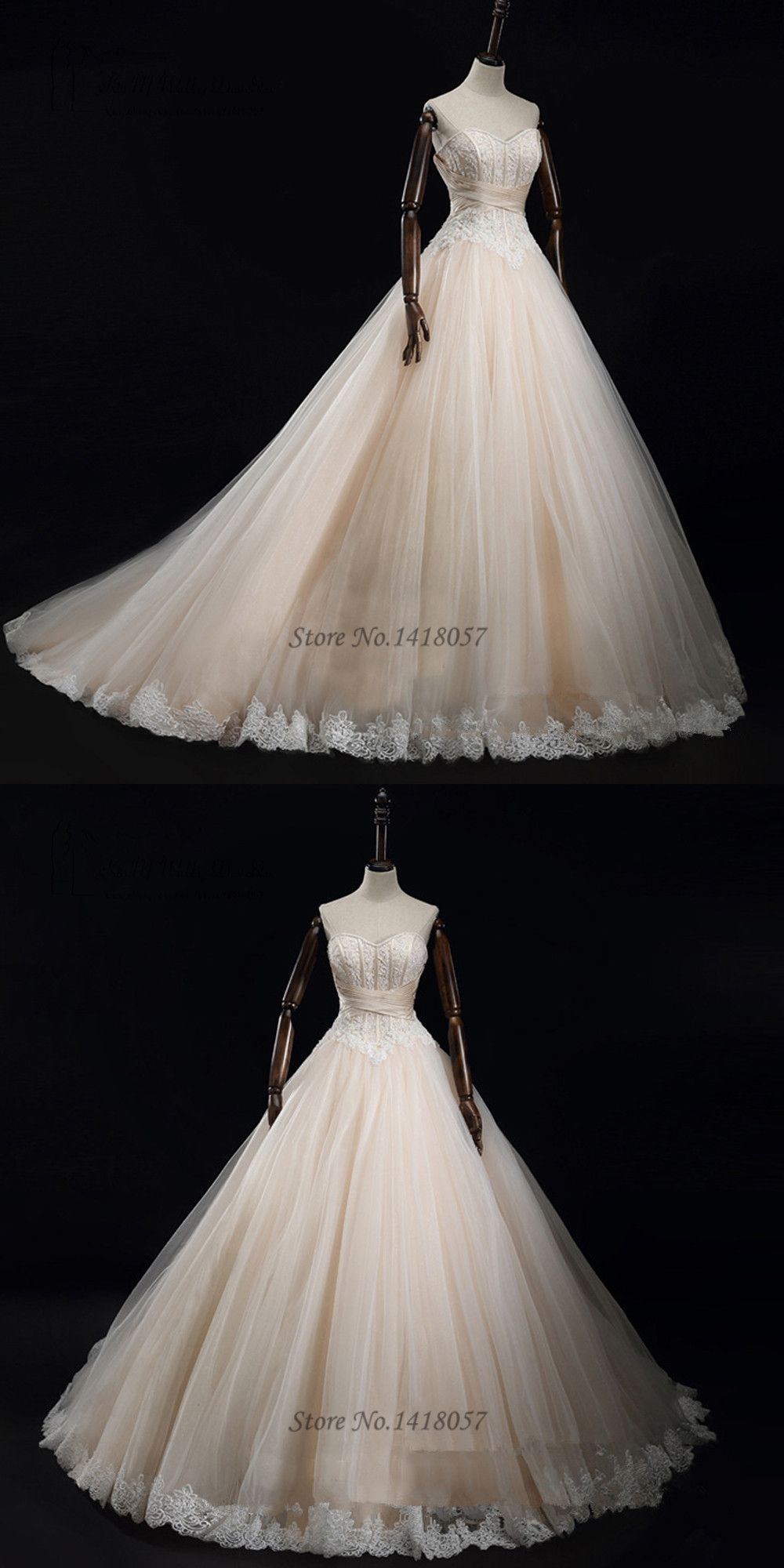 Champagne plus size wedding dresses  Champagne Wedding Dress Elegant Ball Gown Bride Dresses  Vestido