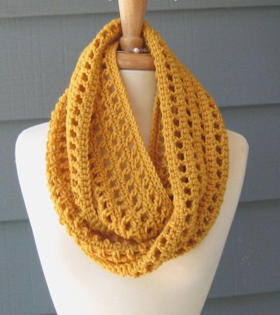 PATTERN S-011 / Crochet Pattern / Leah Infinity ... worsted 300 yds ...