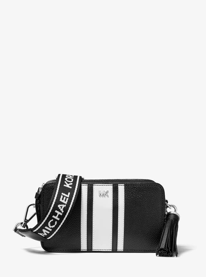 ed5e84e8d11a MICHAEL Michael Kors Small Logo Tape Camera Bag in 2019 | Products ...