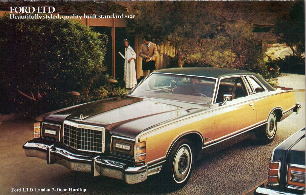 1978 Ford LTD Landau Country Squire Wagon Vintage Sales Brochure Mint