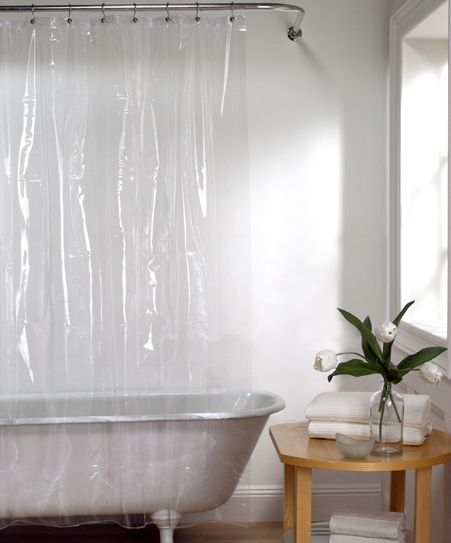 Clear Ultimate 15 Gauge Peva Shower Liner Vinyl Shower Curtains