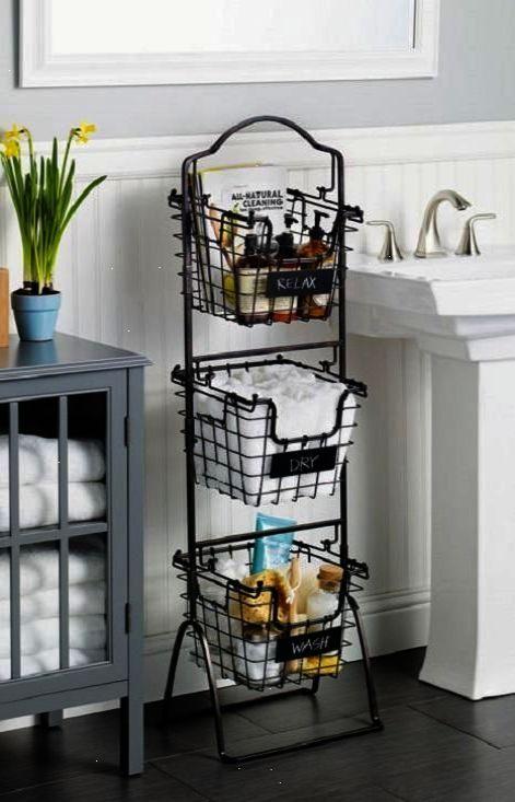 Shared Bathroom Makeup Organization Pinterest Bathroom Storage Shelves Simple Bathroom Bathroom Decor