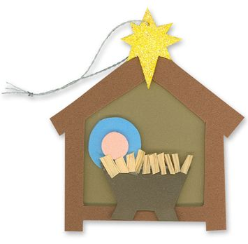 Christmas Nativity Craft Ornament Jesus In The Manger Christmas