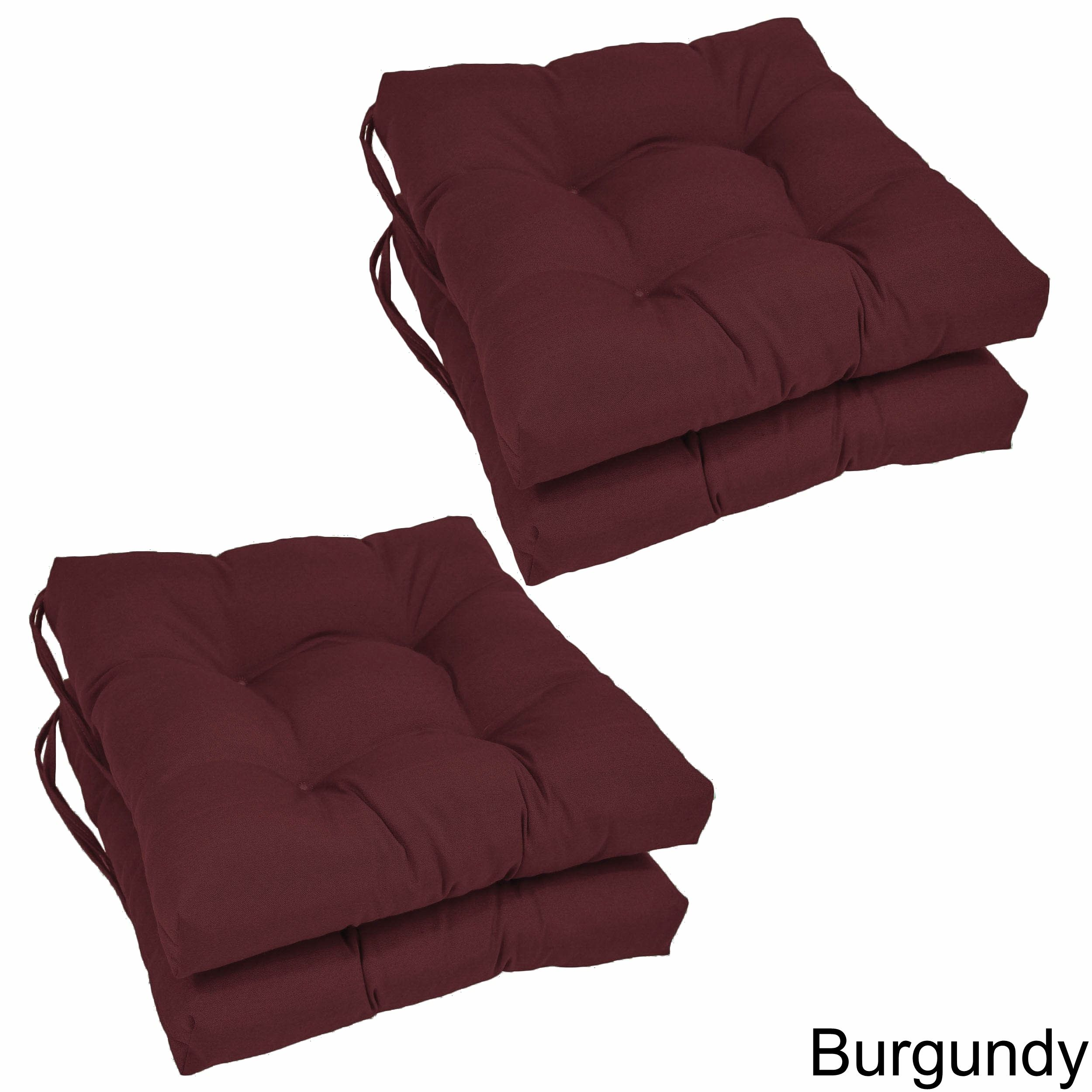 Blazing needles inch square twill dining chair cushions set of