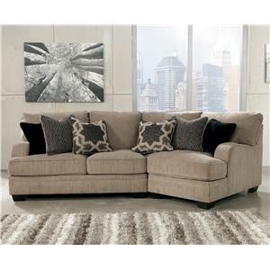 signature design by ashley katisha platinum 2piece sectional with right cuddler