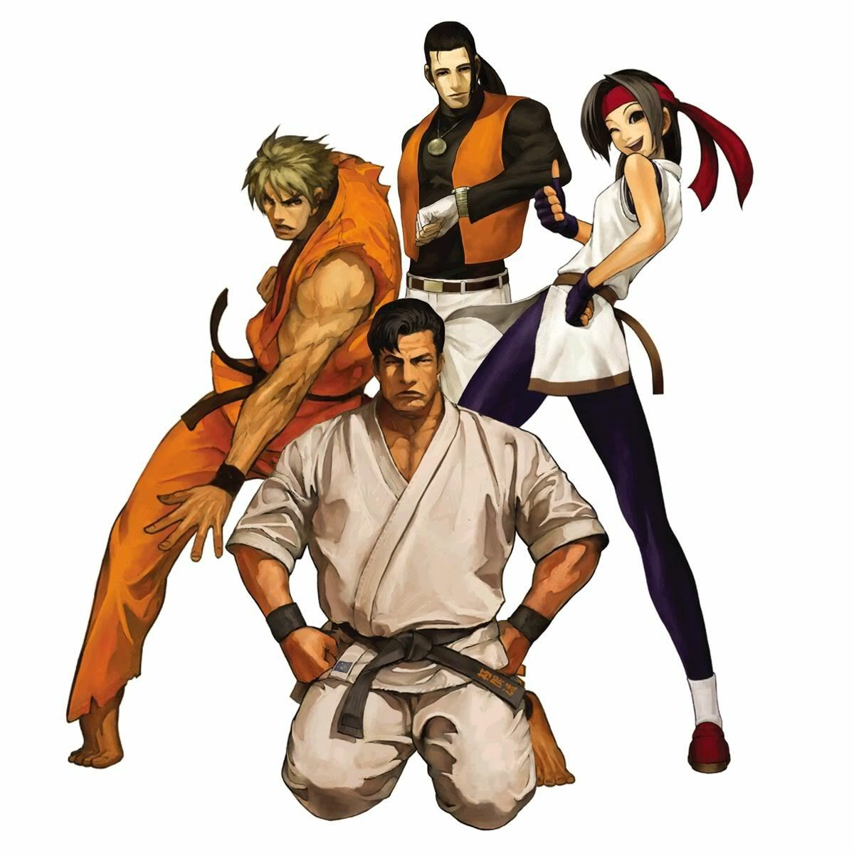 The Art Of Fighting Team King Of Fighters Lutador Cartaz
