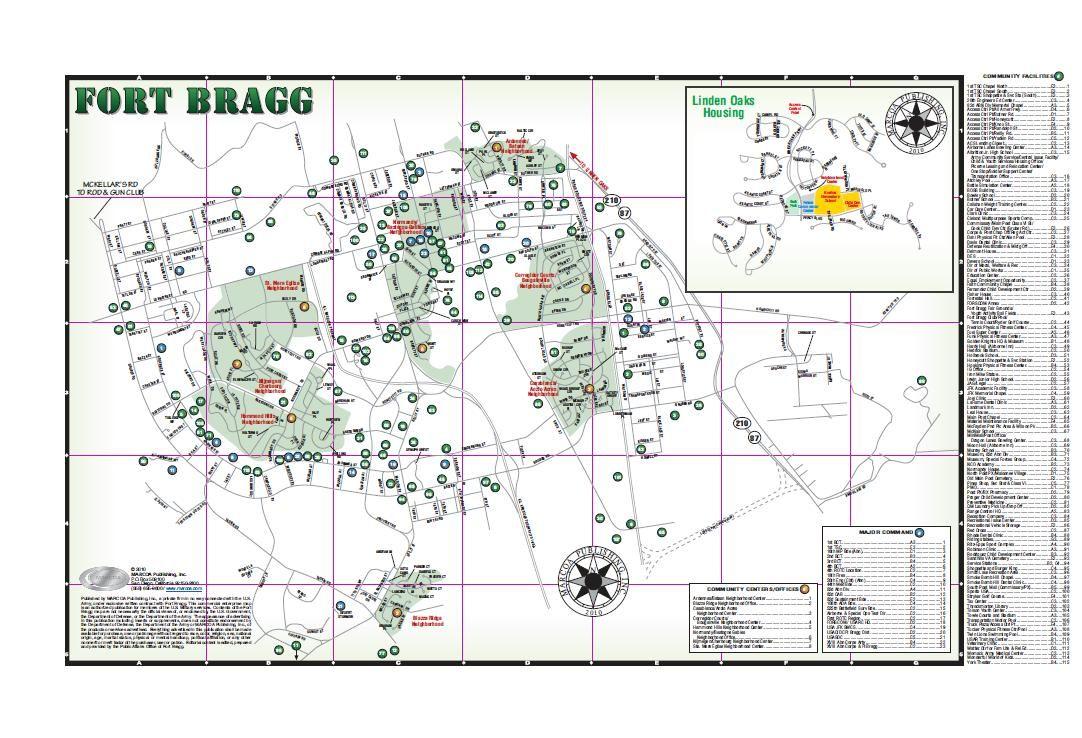 Map Of Fort Bragg  Ft Bragg  North Carolina  Pinterest