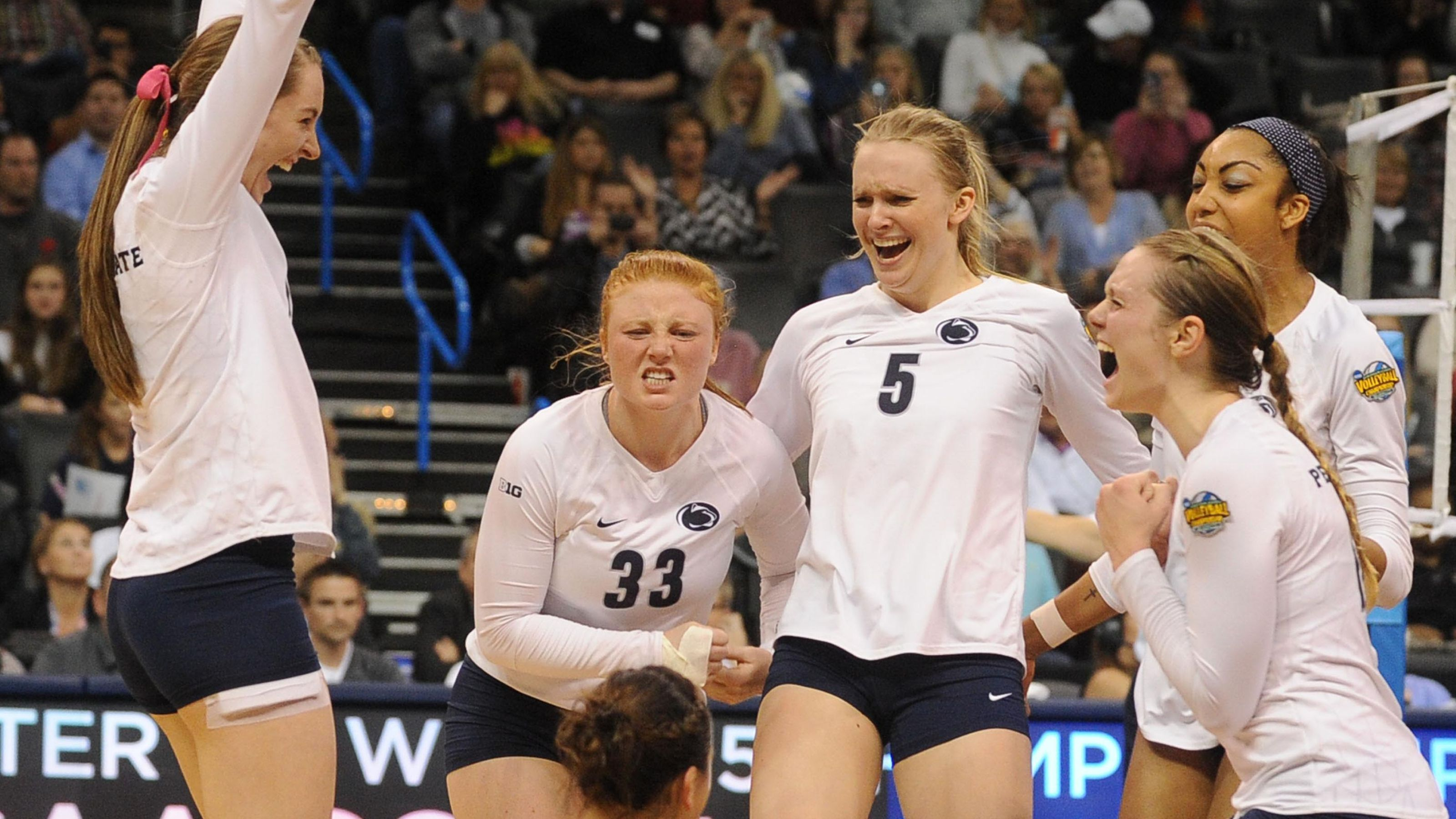 Penn State Repeats As Women S Volleyball Champs Women Volleyball Volleyball National Championship Penn State Volleyball