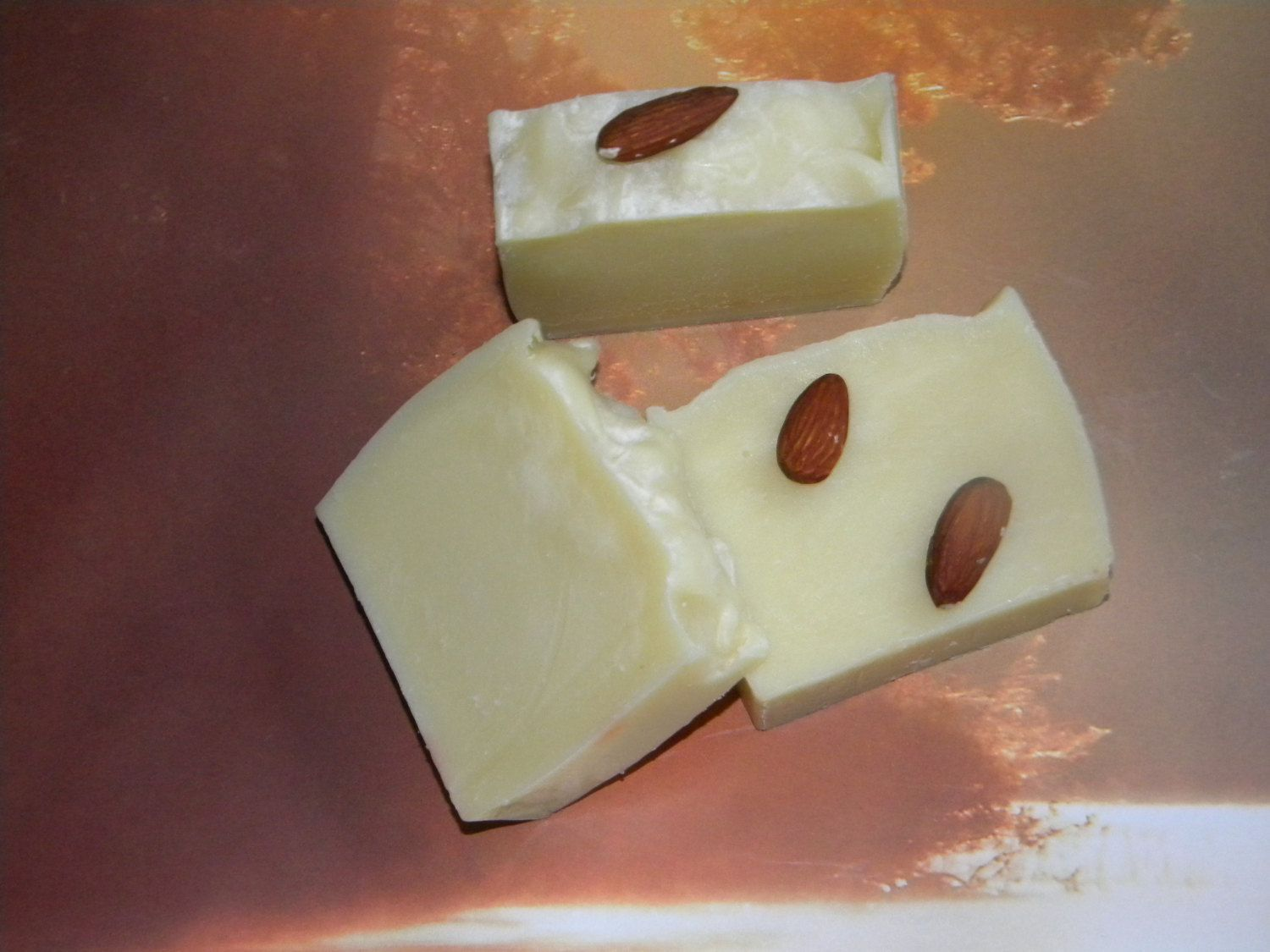 Almond oil soap bar great for eczema/psoriasis natural