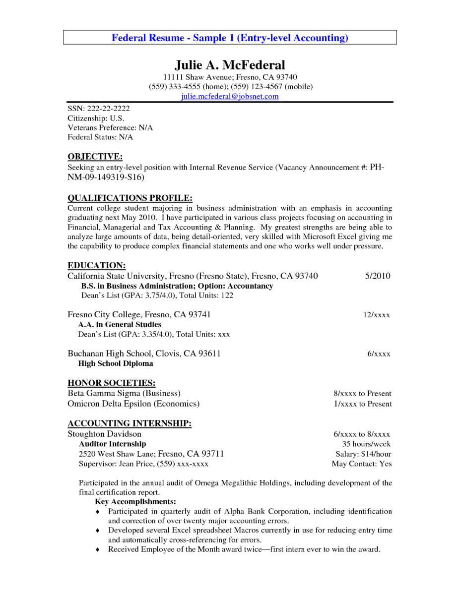 Resume Statement Examples 14 Entry Level Accounting Resume Objective  Raj Samples Resumes