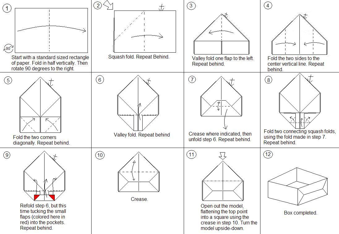 origami boxes with lids templates 28 images paper