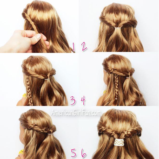 Doll Hairstyle Easy Half Up Twist With Braids American Girl Hairstyles Doll Hair American Girl Doll Hairstyles