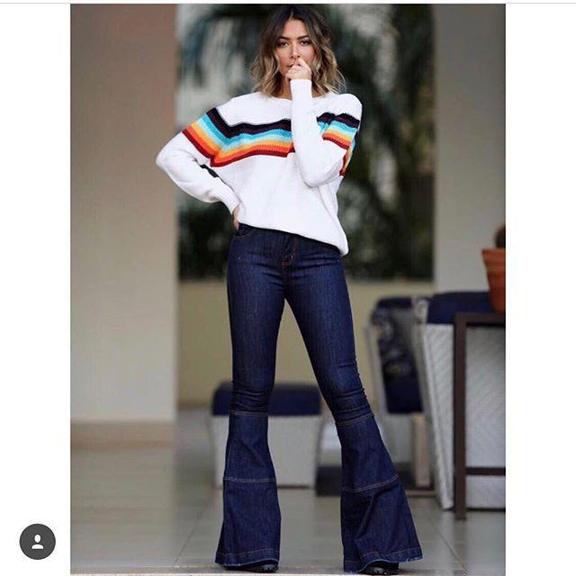 WEBSTA @ sibellemodas - Tricot listrado🎀🔶Tam P(38) M(40) G(42)Calça jeans flare🎀😂🔶Tam 40▶️Compras pelo sitewww.sibellemodas.com.br✔️▶️Aceitamos todos os cartões de crédito ▶️Cartão de crédito  06x sem juros Paypal ou 04 x sem juros Pagseguro▶️Desconto a vista 8% (Depósito ou Transf)▶️Whatsapp para dúvidas Renata (11)961837847▶️📦Frete Grátis acima R$350,00