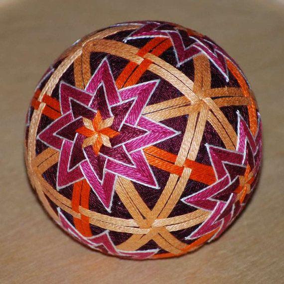 Oranges and Hibiscus temari ball