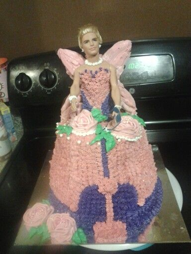 Joke novelty cake Uncle Bills fairy cake Ken doll cake Ken doll