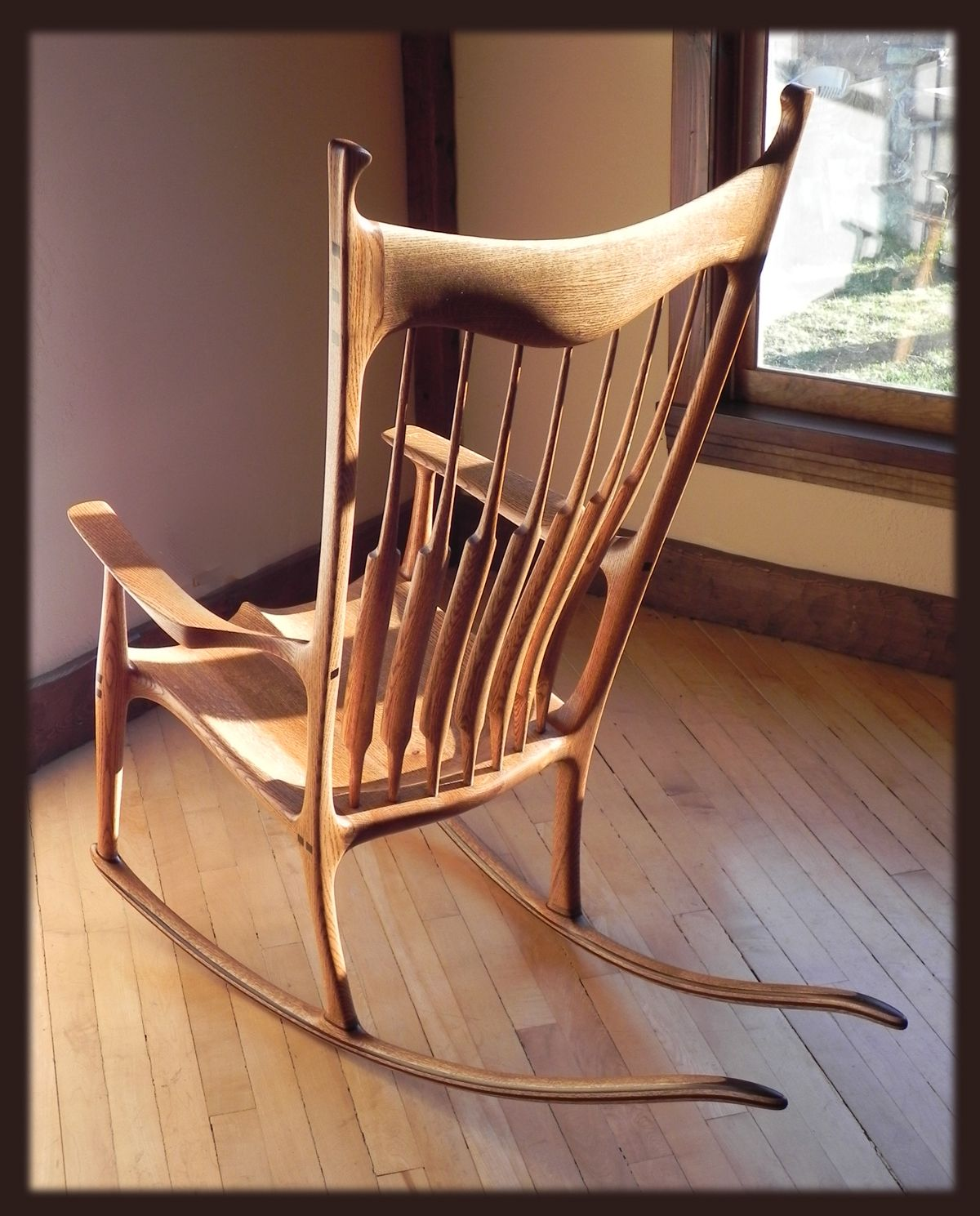 Sam Maloof Rocking Chair Plans Hal Taylor Contemporary Reading Sculpted From The Workshop Of Josh Hicks