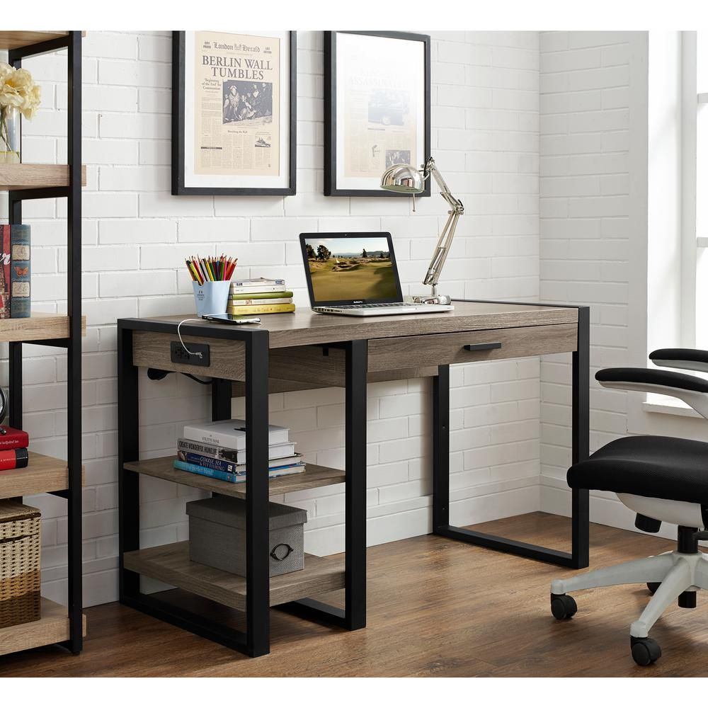 Walker Edison Furniture Company Urban Blend Driftwood Desk ... on farmhouse kitchen furniture, country style kitchen furniture, kitchen looking into an office, kitchen office design inside, kitchen layout with office and reception, big lots wholesale furniture, kitchen remodel furniture assembly,