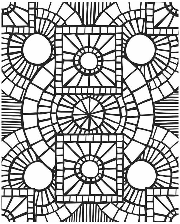Coloring picture Mosaic coloring pages 4mosaic coloring pages