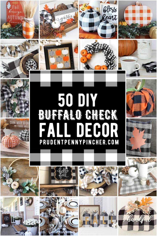 20 Buffalo Check DIY Fall Decor Ideas   Fall decor diy, Fall ...