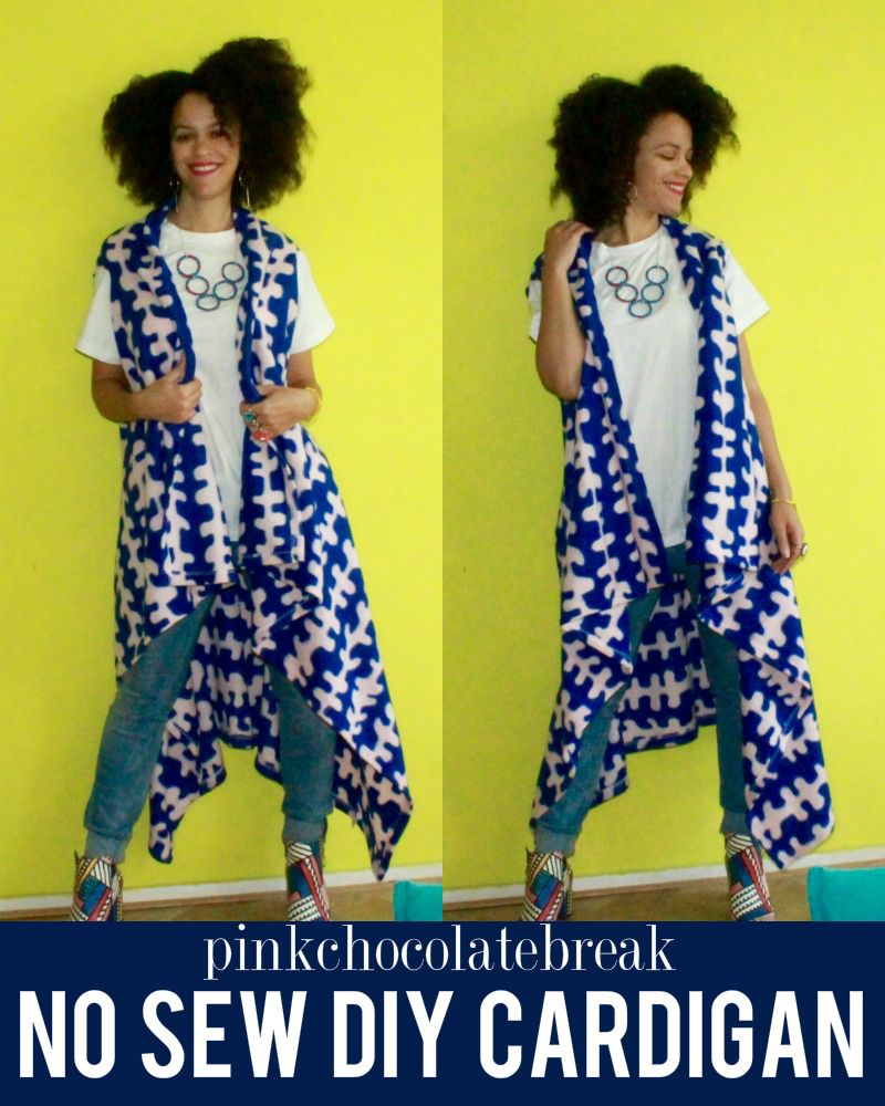 Refashion Blanket into a DIY Sleeveless Maxi Cardigan - NO SEW ...