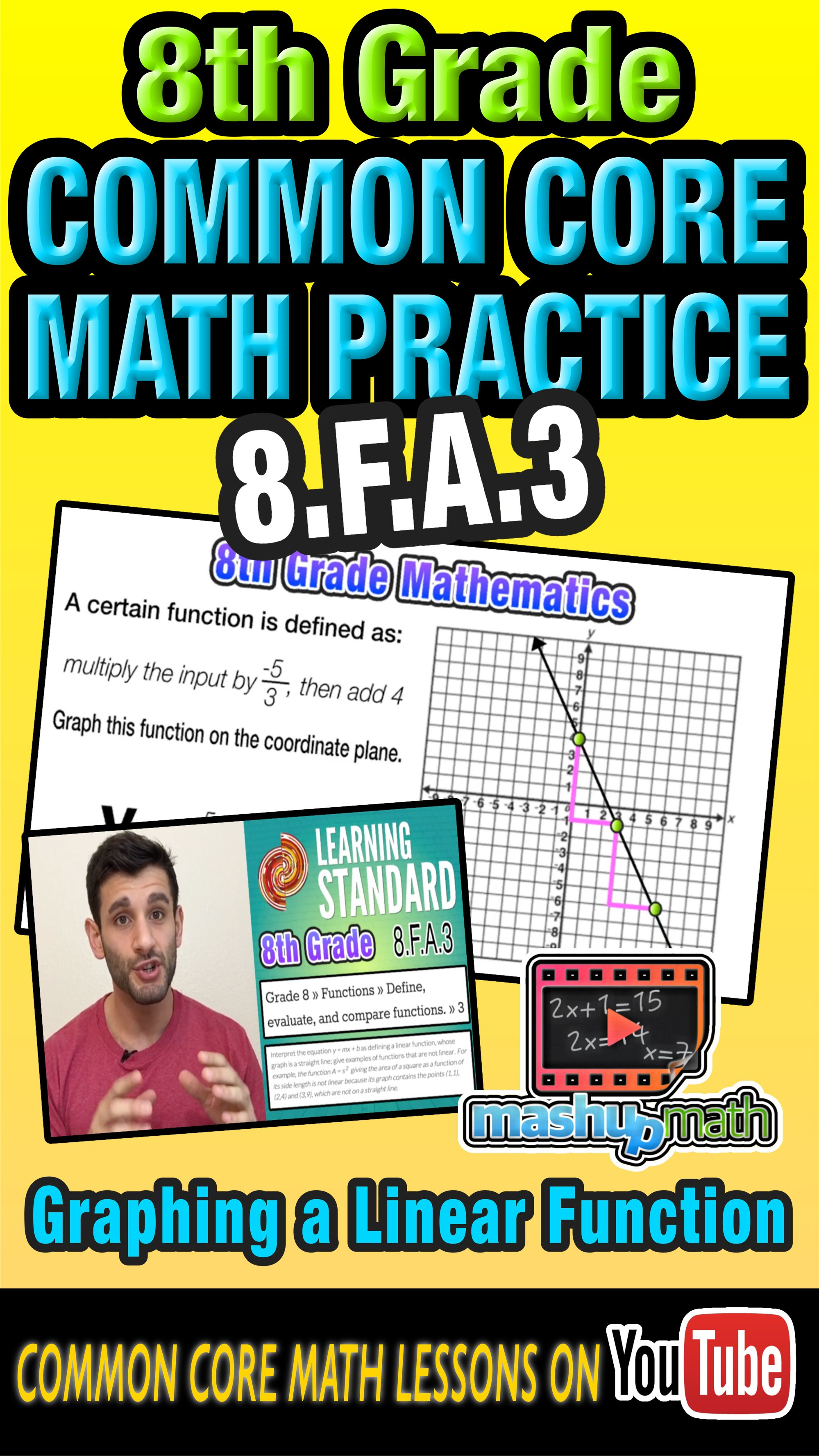 Need Some Help With 8th Grade Common Core Math Check Out Our Short Animated Lesson On Graphing