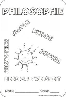 Deckblatt Philosophie Zum Ausdrucken Deckblatt Schule Deckblatt Deckblatt Vorlage