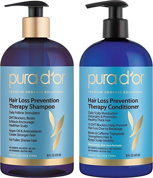 Amazon Com Pura D Or Hair Loss Prevention Therapy Premium Organic