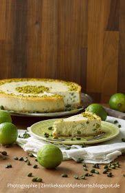 Limetten-Pistazien-Cheesecake