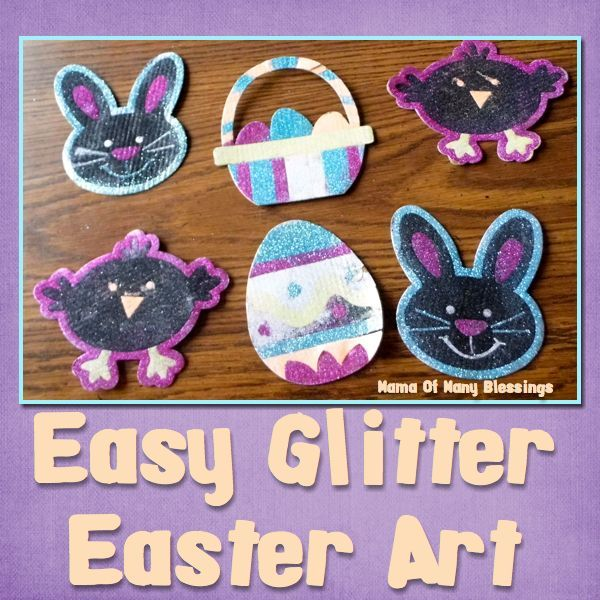 Easy Glitter Craft For Easter ArtEaster IdeasGlitter