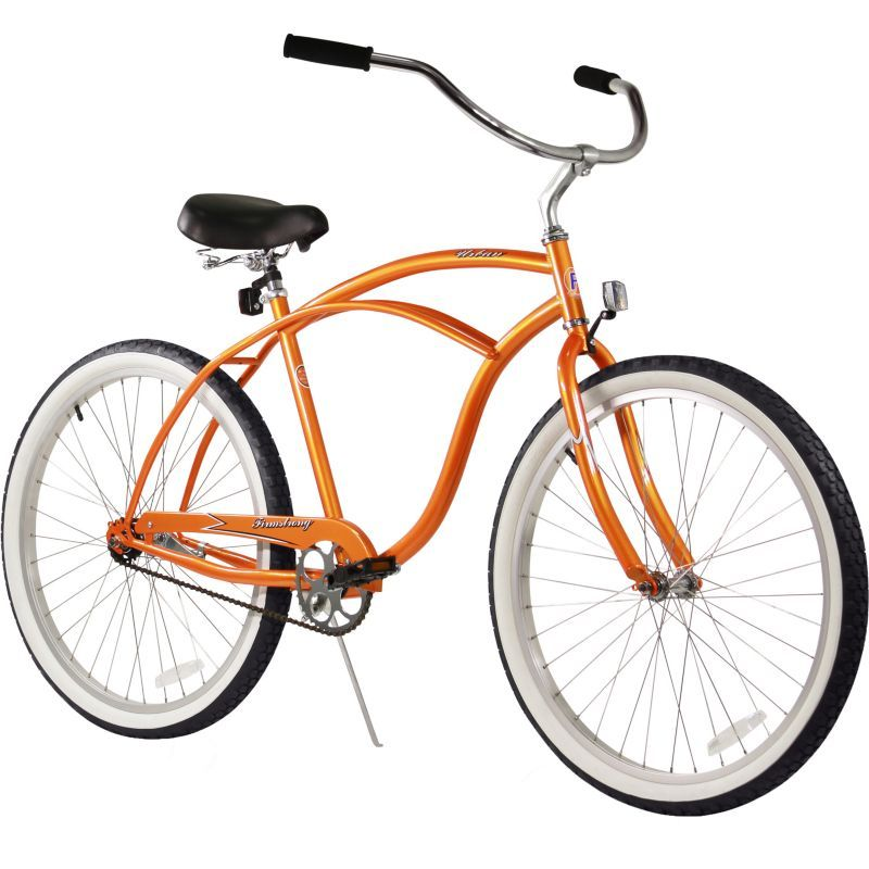 Firmstrong Urban Man Single Speed Beach Cruiser Bicycle, 24-Inch, Black.