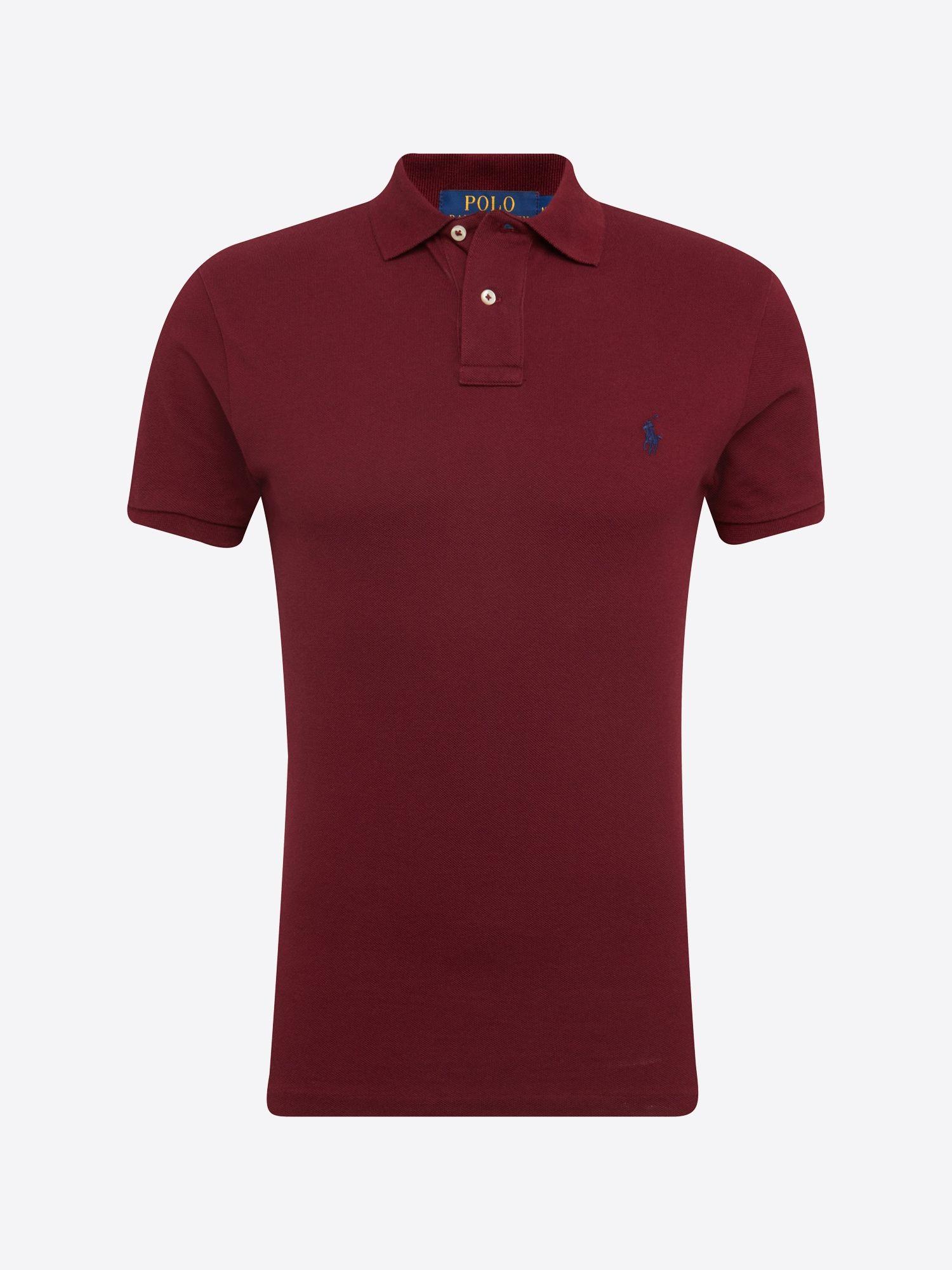 Polo Ralph Lauren Poloshirt Sskcslm1 Short Sleeve Knit Herren Weinrot Grosse Xl Ralph Lauren Poloshirt Shirts Polo Ralph Lauren