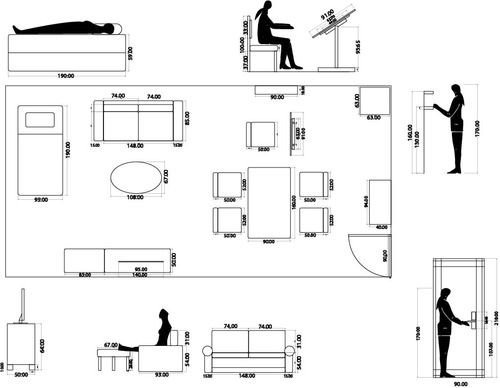 Plan Elevation Of Chair : Quot taxonomy of physical interaction with furniture this