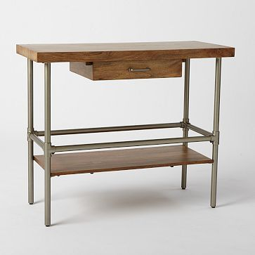 outstanding industrial kitchen island table | Industrial Kitchen Island #westelm -- steel pipe legs ...